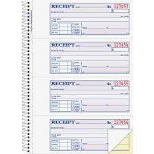 Adams 2 Part Money Rent Receipt Book 200 Count