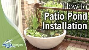 container water garden. Simple Garden How To Create An Easy Container Water Feature With Aquascapeu0027s Patio Pond   YouTube And Garden