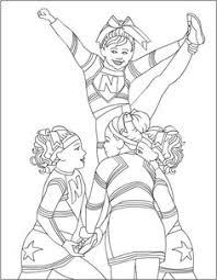 Small Picture cheerleader color pages printables Cheerleading Coloring Pages