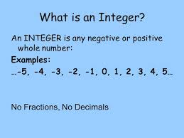 Integers Examples Representing Integers Ppt Video Online Download