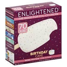 Enlightened Birthday Cake Low Fat Ice Cream Bars 4 Bars Walmartcom