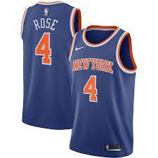 New York Knicks Derrick Rose #4 Nike ...