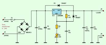 adjustable symmetric to vdc a power supply schematic design 0 24vdc digital pic power supply acircmiddot variable adjustable dc power supply 1 2v 25v using lm338k