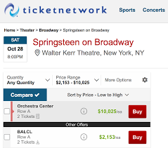 Springsteen On Broadway Seating Chart Ticketmasters Springsteen On Broadway Backfire Best