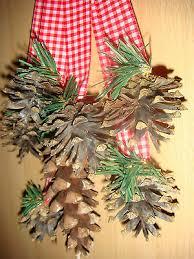 Türschmuck Fensterdeko Weihnachten Herbst Zapfen Natur Wand
