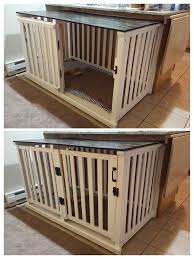 furniture style dog crate. Old Crib Converted To Spacious Dog Crate. DIY Project Success! My Beagles Love It Furniture Style Crate E