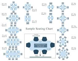 visual seating chart shows the number of chairs based on tables size dining table round seats