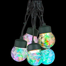 lightshow 8 light multi color round projection string lights with clips