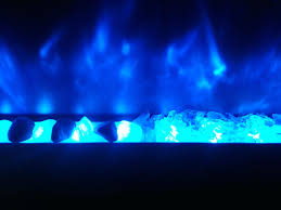 full image for crystal blue flame rocks white glass electric fireplace crystals