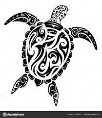 тату черепаха маори маори стиль татуировки черепахи векторное