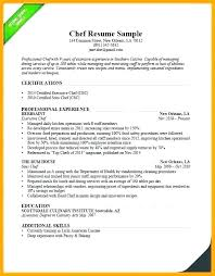 Executive Chef Resume Template Skincense Co