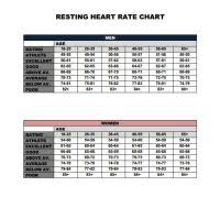 Heart Rate Numbers Chart Heart Rate And Blood Pressure