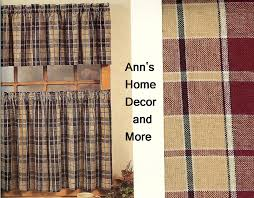 interesting plaid kitchen curtains and country red kitchen curtains