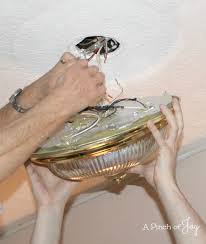 remove old light fixture a pinch of joy