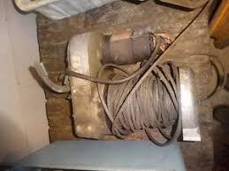 used warn winch vtg warn winch 12 volt working landcruiser bronco jeep model 8000 lb fj40