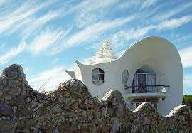 Concrete Conch  Spiral Shell Inspired Fractal Beach House