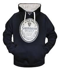 guinness label pullover hoo