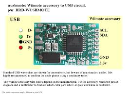 wusbmote wiimote accessory to usb adapter wiring instructions wiimote connector pinout