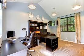 home office home office makeover emily. Fabulous Gray Accent Wall Ideas For Home Office Desk With Makeover Emily