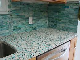 image of recycled glass countertops vs quartz