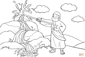 Awesome Baby Moses Coloring Page 45 About Remodel Picture With Of