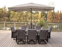 outdoor dining sets with umbrella. Amazon.com: 9pc Palmetto Black Aluminum And Wicker Dining Set With Free Umbrella: Garden \u0026 Outdoor Sets Umbrella