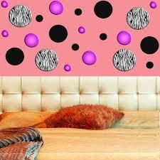 vwaq zebra stripe wall decals polka