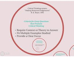 essay questions that promote critical thinking critical thinking