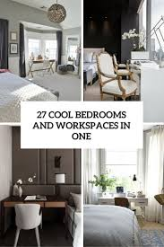 Cool Bedrooms 27 Cool Bedrooms And Workspaces In One Digsdigs