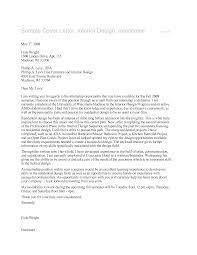 interior designer cover letter example
