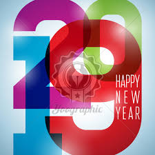 2019 Happy New Year illustration with typography number on shiny ...