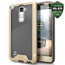 lg stylo 2 cases. lg stylo 2 ls775 - ion hybrid case cover tempered glass screen protector gold/smoke :: cellphonecases.com lg cases