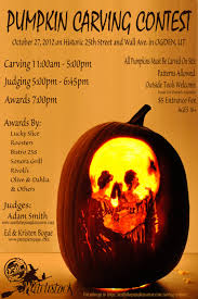 pumpkin carving contest flyer witchstock carving contest smith the pumpkin carv with customizable