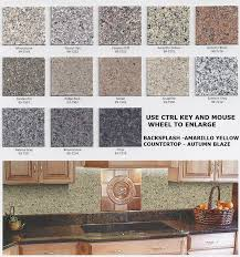kitchen countertop color chart