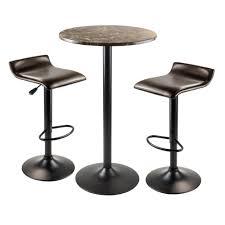 amazoncom winsome wood cora piece round pub table with