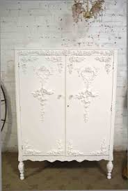 white furniture shabby chic. Armoire Painted Cottage Chic Shabby French Romantic Armoire/ War White Furniture