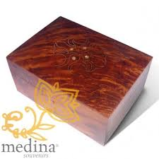 Large Wooden Boxes To Decorate Moroccan decoration Wood products Luna wood box with lock 77