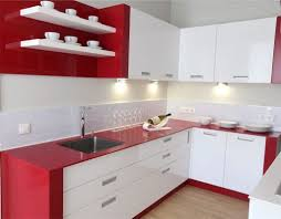 red and white kitchen interior design image kitchen