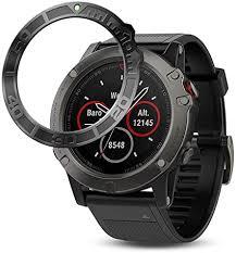Shan-S Watch Ring <b>Adhesive</b> Cover for Garmin Fenix <b>5X</b>, <b>Aluminum</b> ...