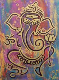 ganesha painting lord ganesha ganesha wall art ganesha home decor elephant painting hindu spiritual art 10x10 canvas