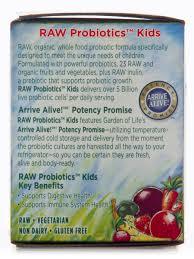 garden of eden probiotics. RAW Organic Probiotic Kids Powder - 3.4 Oz (96 Grams) Garden Of Eden Probiotics E