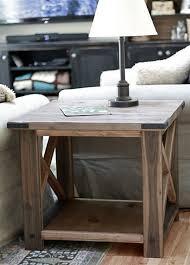build your own rustic furniture. DIY Rustic X Side Table Build Your Own Furniture A