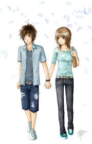anime holding hands and walking. Modren Walking Anime Couples Holding Hands And Walking Holding Hands And  For H