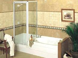 bath shower units combined small corner tub combo home depot