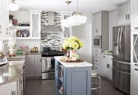 white and gray kitchen color scheme