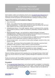 Accident Incident Reporting Procedure