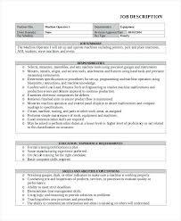 Cnc Machine Operator Resume Sample Resume Printing Heavy Equipment