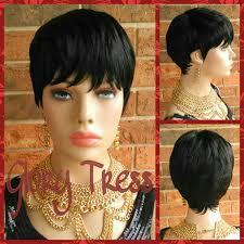 Short Razor Cut Hairstyles On Sale Short Razor Cut Full Wig Pixie Cut Hairstyle 100