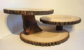 Large Wooden Tree Display Stand Classy Large Wood Slice Display Stand Rustic Cake Cupcake Stand