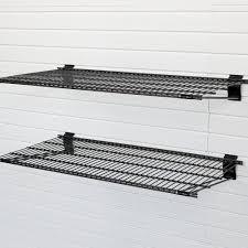 metal bracket shelf black 2 pack